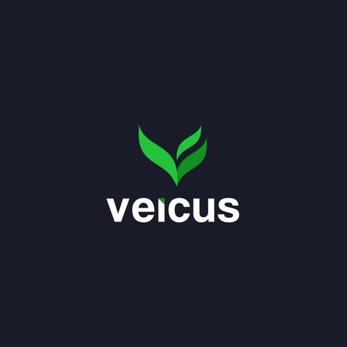 Letter V Leaf Logo Design For Sale