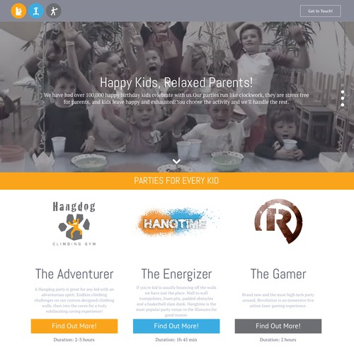 Landing Page for 3 Businesses