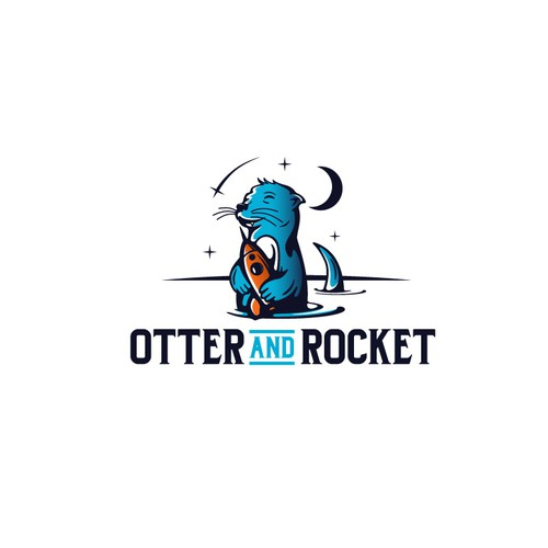 "Logo design for ""Otter and Rocket"""