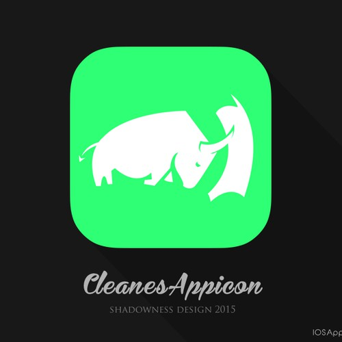 Cleanes App-Icon - Motiv roter Stier