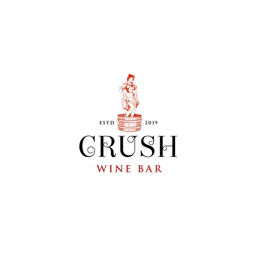 Quirky Illustration for Crush Wine Bar