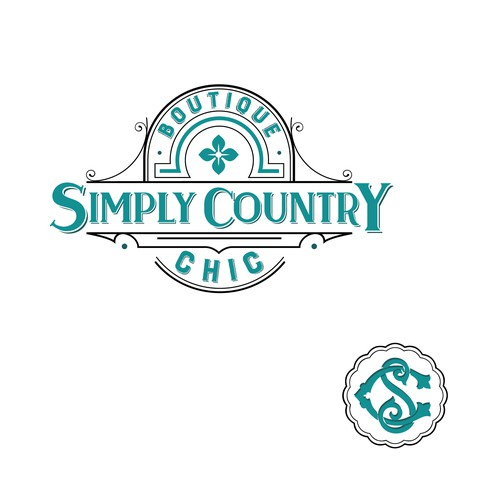 Create a vintage style logo for a southern boutique & gift shop