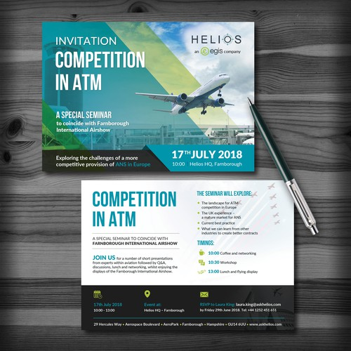 Invitation Postcard for Helios