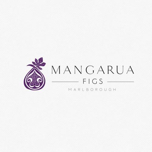Organic logo for a fig farm company