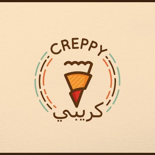 Logo design concept for Crepe company.