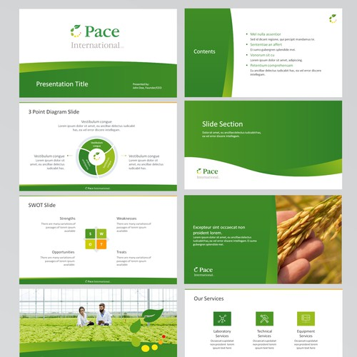 Pace Green Template