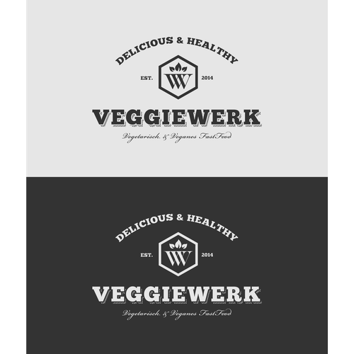 Logodesign for vegetarian Fast Food