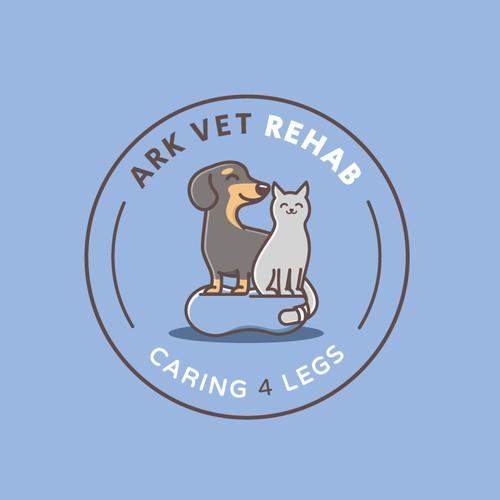 Cute logo for a pet rehab facility