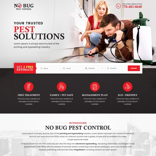 Landing Page For No Bug Pest Control