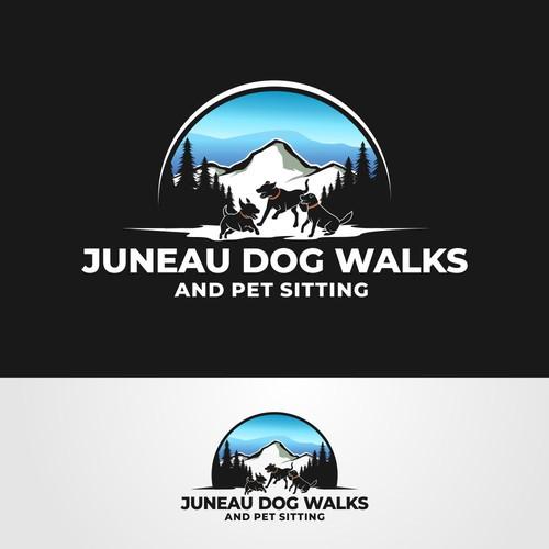 Juneau Dog Walks Logo
