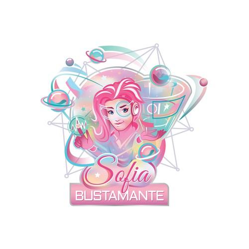 Futuristic logo-illustration