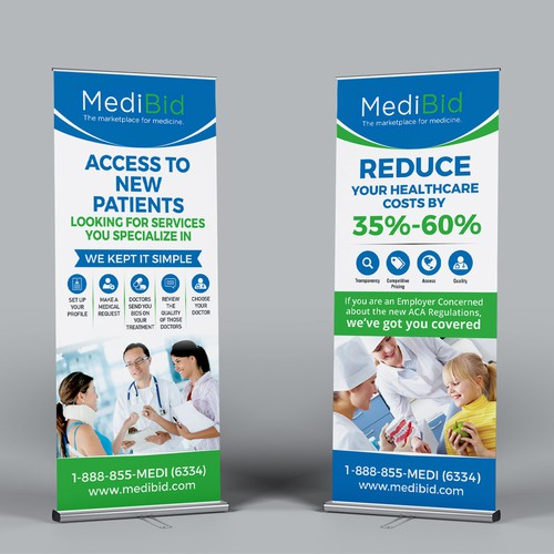 Pop up banners for healthcare trade show