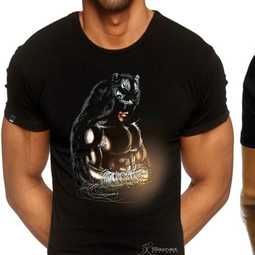 T-shirt design for a boxer