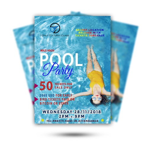 Pool party flyer /poster