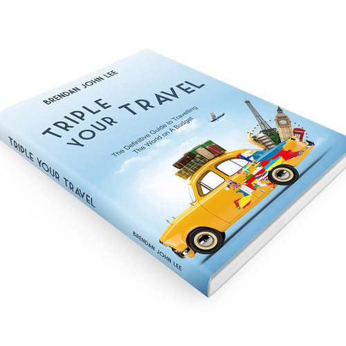 Create a clean, fun and modern book cover for my new travel ebook.