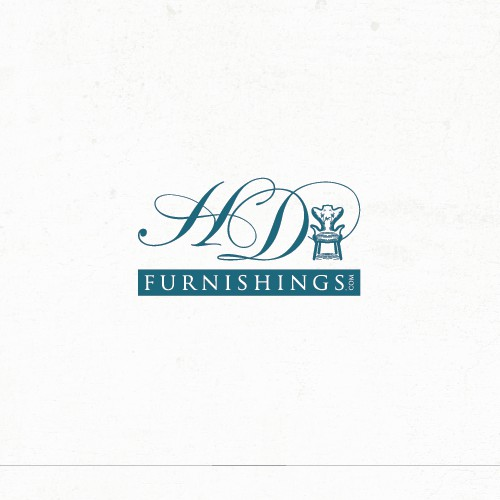 A chair logo for HD Furnishings