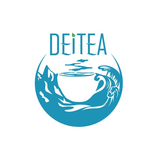 Logo for an adventure themed tea company