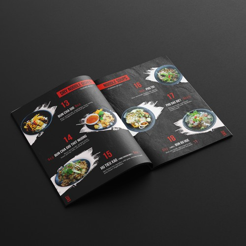 Menu Concept for Vietnamese Restaurant