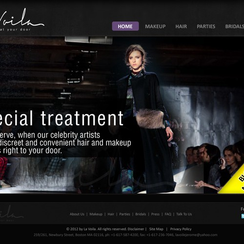 Create a website for a Luxury Beauty Brand