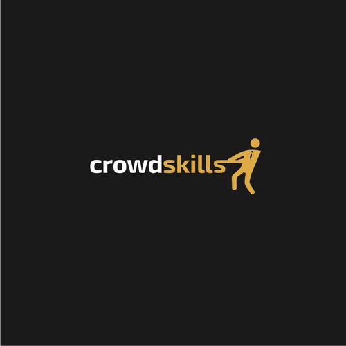 Logo for crowdskills company