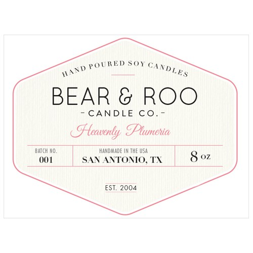Start up soy candle company looking for a beautiful label
