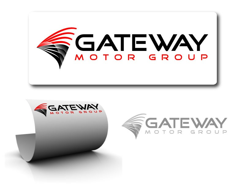 """Current logo is text """"Gateway Motor Group"""" - looking for a more simplistic logo that customer can associate the dealership with."""
