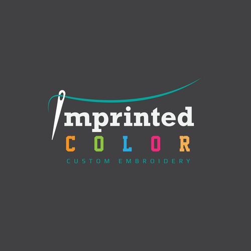 Create An Awesome Simple Font Based Logo Design For Custom Embroidery Imprinted Color