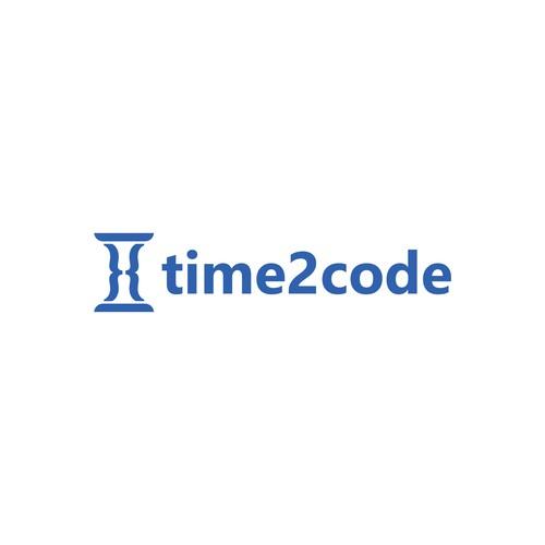 Minimalistic logo design for time2code