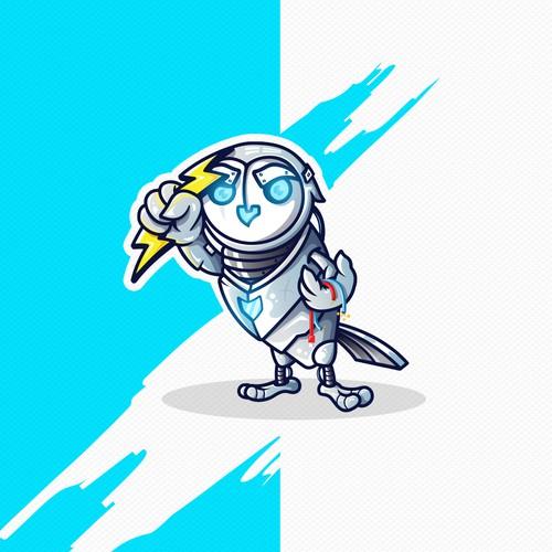 Robot Owl Mascot Design