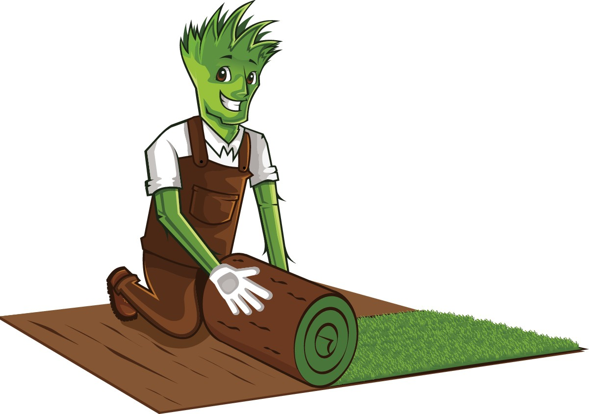 Mr. Lawn Mascot needs to 'roll out some sod'