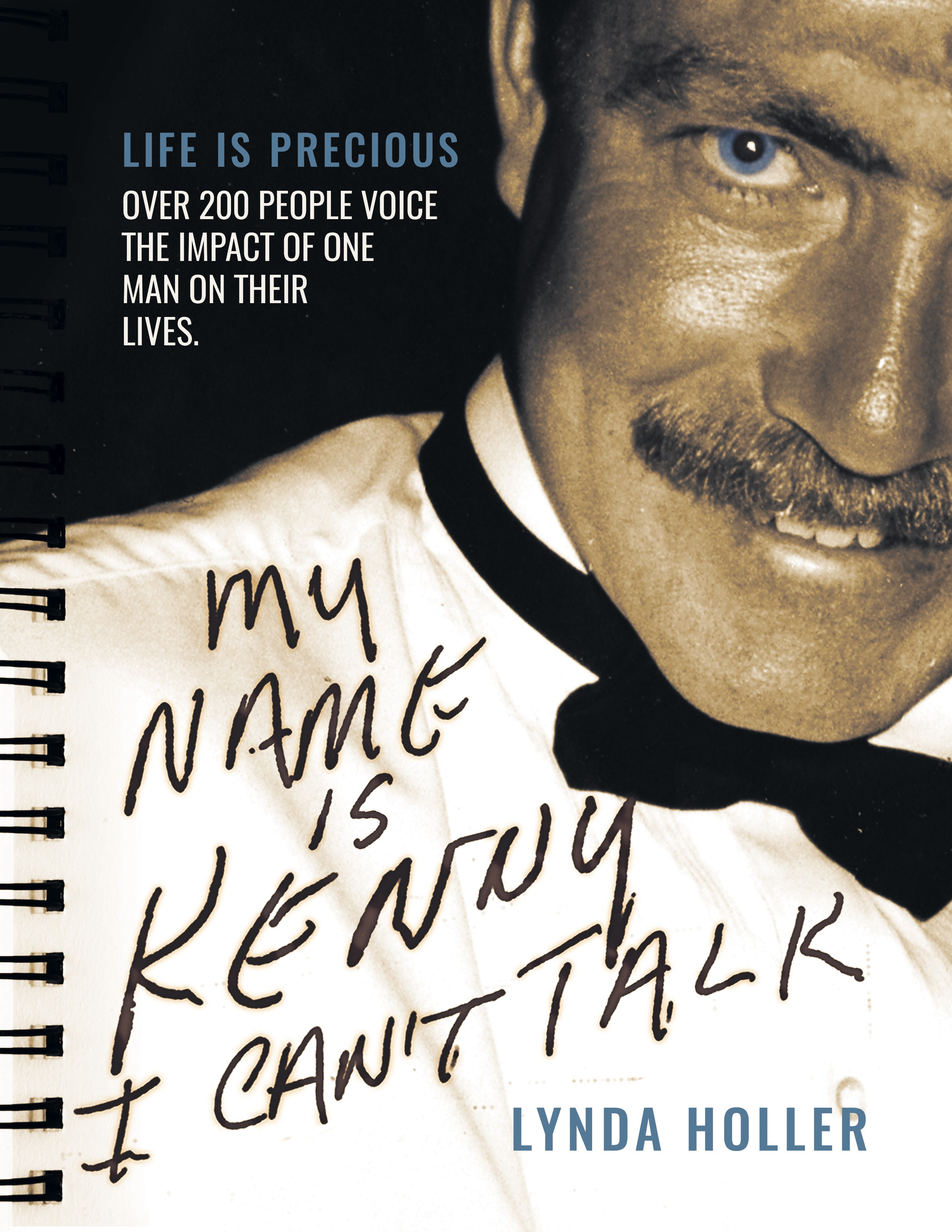 "Design a book cover for ""My Name is Kenny, I Can't Talk."""