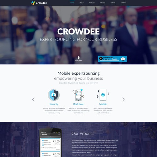 Web design for Mobile crowdsourcing platform