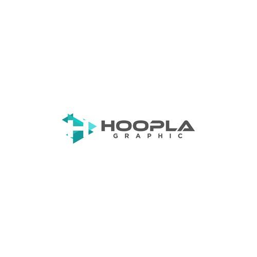 flat H logo