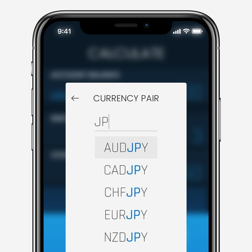Currency Pair Selection