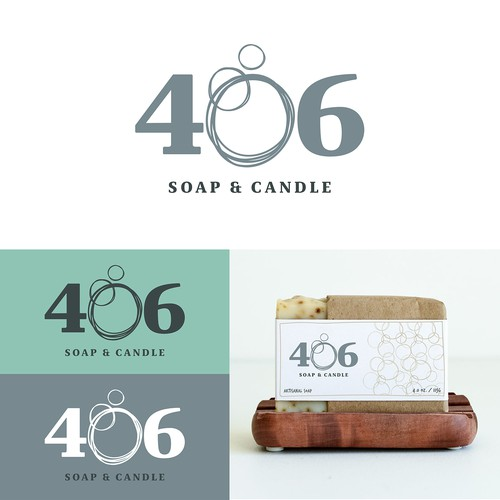 Artisanal soap and candle company Logo