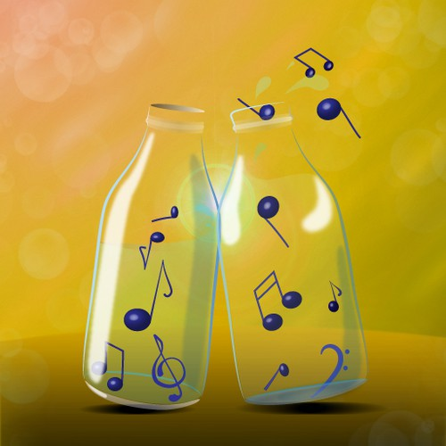 iPhone App Icon - Bottle Music