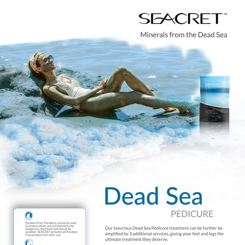 SEACRET FLYERS - DEAD SEA PEDICURE - front
