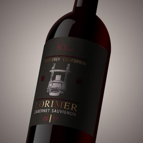 Wine label LORIMER_CS_
