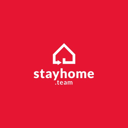 Logo concept for stay home.team