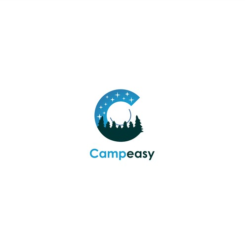 Camping logo for Camp Easy