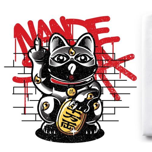 Asian lucky cats for street art fair