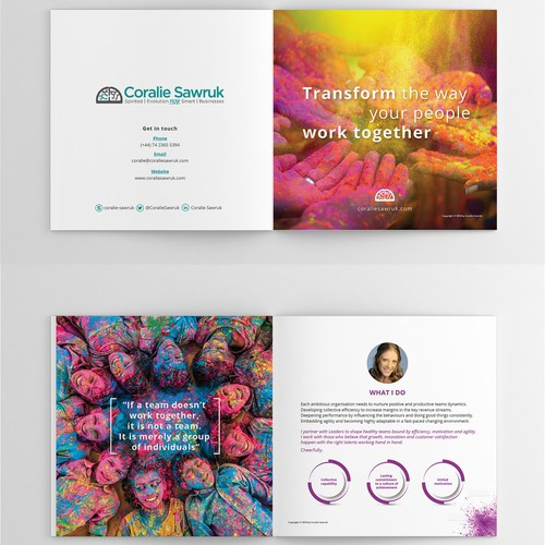 Creative booklet for  boutique consulting services