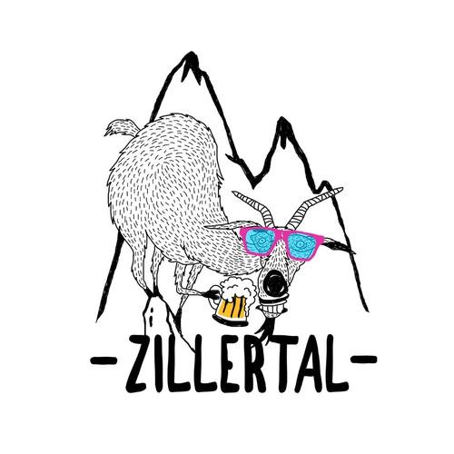 T-Shirt Design Zillertal