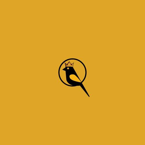 Golden crown kinglet logo