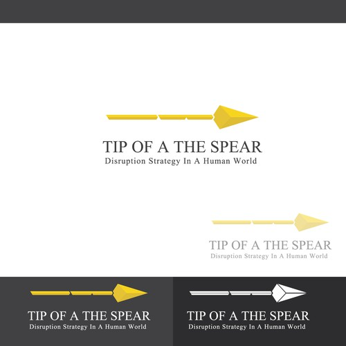 Concept logo designed for 'Tip f a the spear'