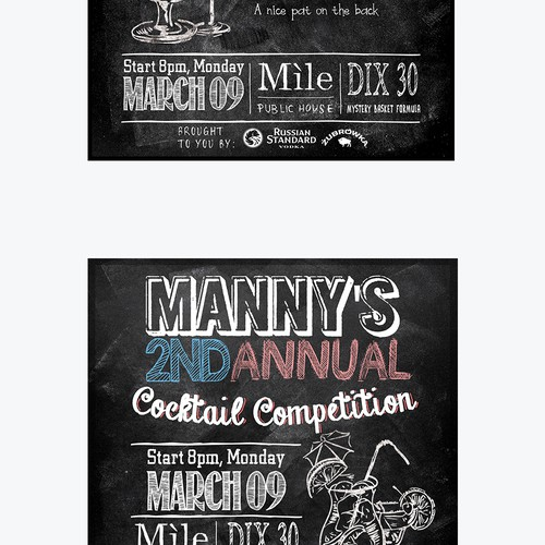 Design promo material for cool cocktail competition