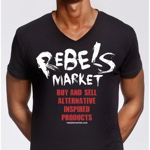 Design Custom/Freehand T-shirts for RebelsMarket Branding Campaign