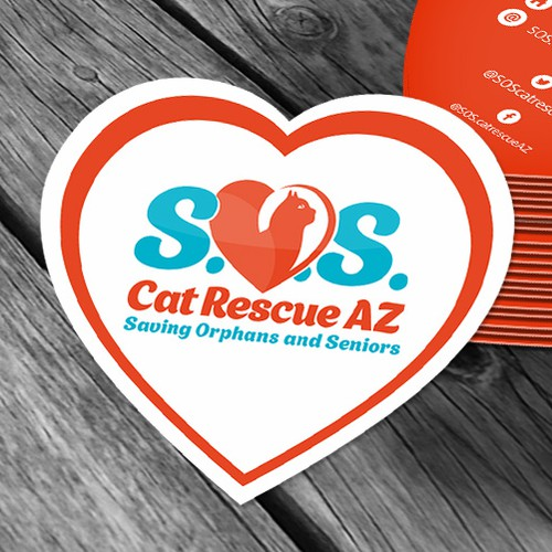 "Logo & business card for ""Cat S.O.S. AZ"""