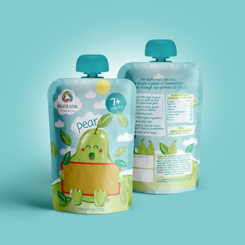 Baby food packaging for 'Brighter Future Organics'!