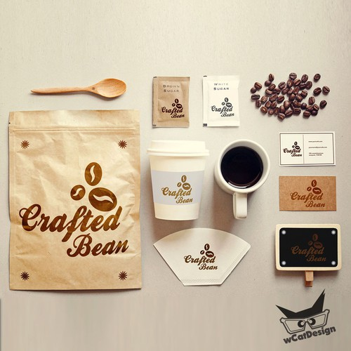 Crafted Bean Cafe Company Brand Design